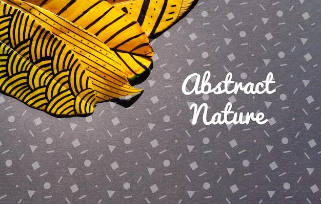 Красочные и художественно окрашенные листья Бесплатные Psd