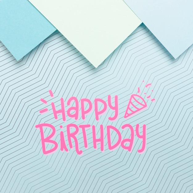 Картон с сообщением с днем рождения Бесплатные Psd