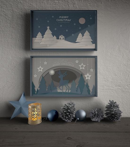 クリスマスをテーマにしたフレーム 無料 Psd