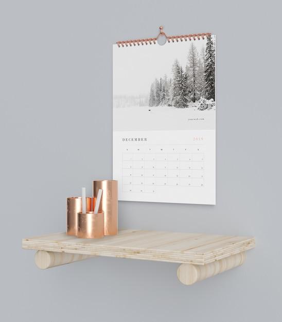 Календарь в книге крюк концепции макета Бесплатные Psd
