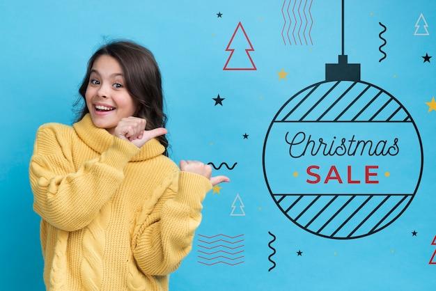 Мемфис концепция для рождественских продаж Бесплатные Psd