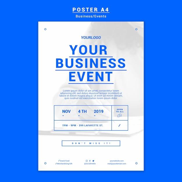現代のビジネスポスターテンプレート 無料 Psd