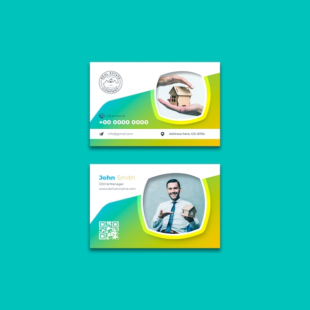Шаблон визитной карточки недвижимости Бесплатные Psd