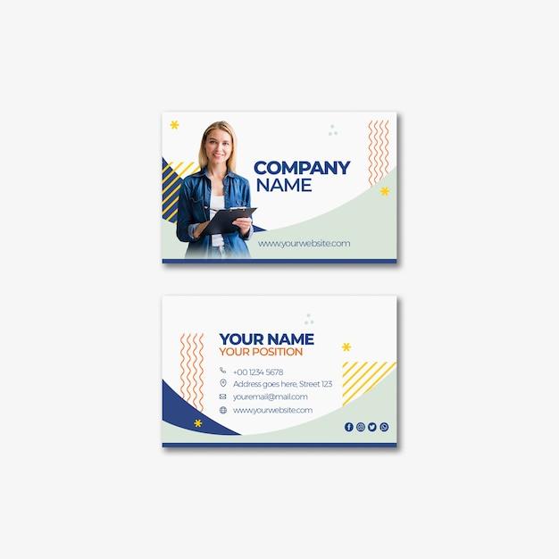 企業のビジネスカードのテンプレートデザイン 無料 Psd
