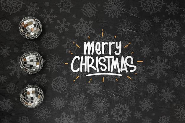 Счастливого рождества сообщение на темном фоне Бесплатные Psd