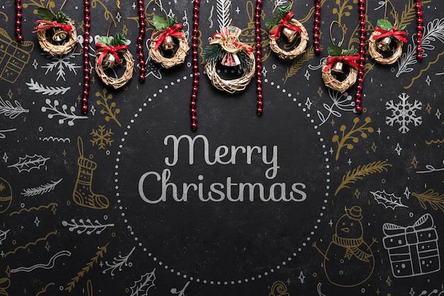 クリスマスに準備された小さなコロネット 無料 Psd