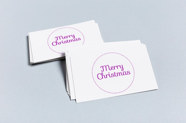 メリークリスマスモックアップ名刺テンプレート 無料 Psd