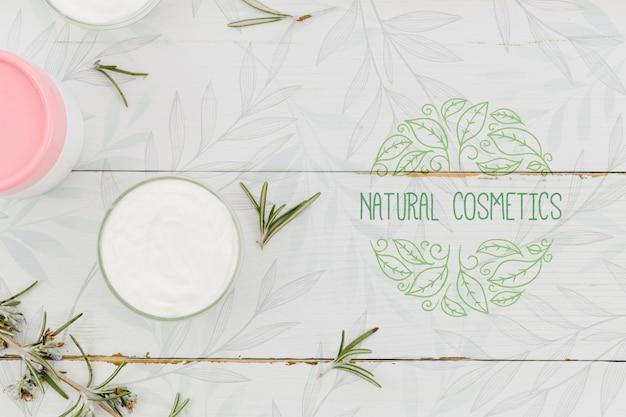 自然化粧品とクリーム製品 無料 Psd