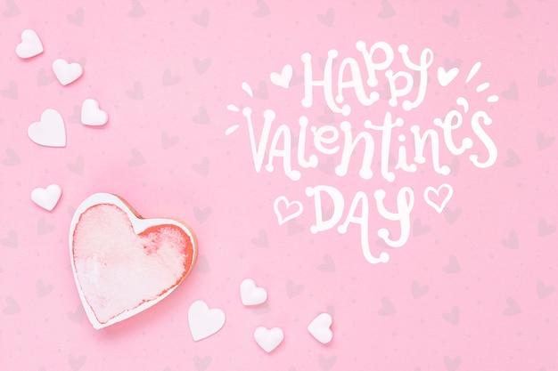 С днем святого валентина концепция с сердцем Бесплатные Psd