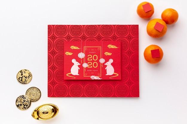 Счастливый китайский новый год макет Бесплатные Psd