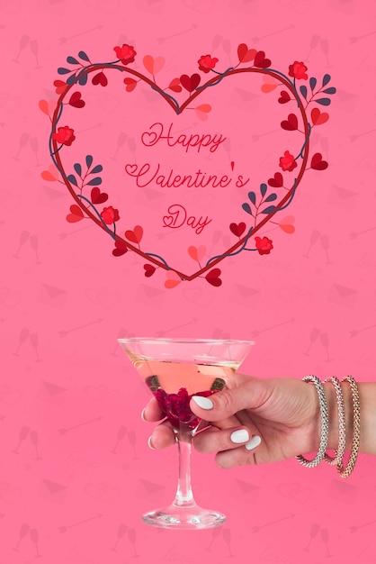 Сердце из цветов на день святого валентина Бесплатные Psd