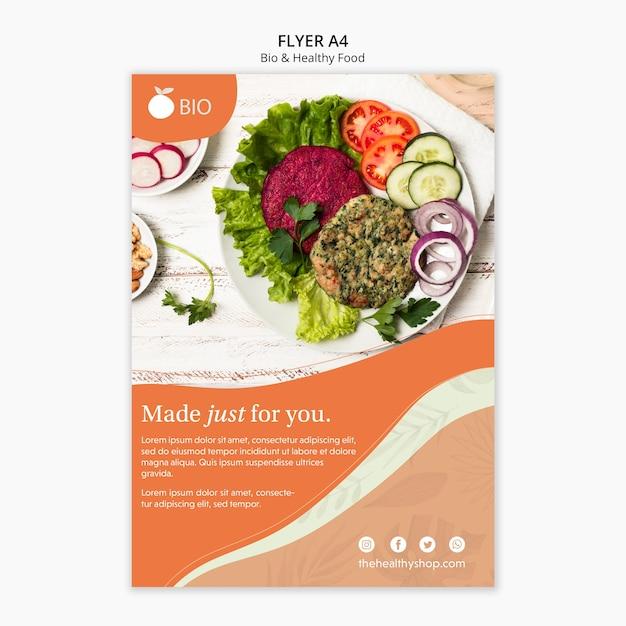 Био и концепция здорового питания Бесплатные Psd