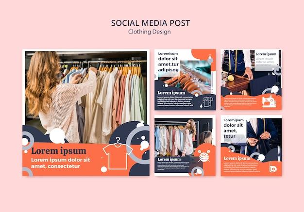 衣料品店のソーシャルメディア投稿 無料 Psd