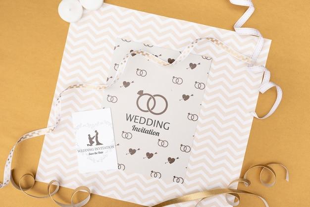 エレガントな結婚式の招待カード 無料 Psd
