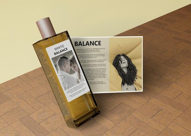 長方形の香水のボトル 無料 Psd