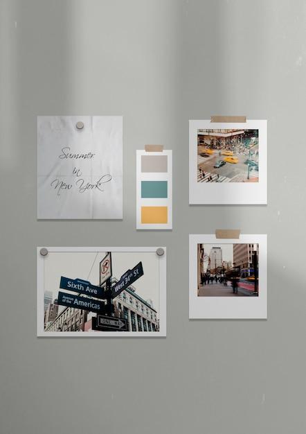 Шаблон декорации в нью-йорке Бесплатные Psd
