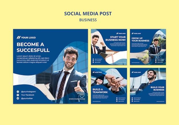 ビジネスの男性のためのソーシャルメディアの投稿 無料 Psd