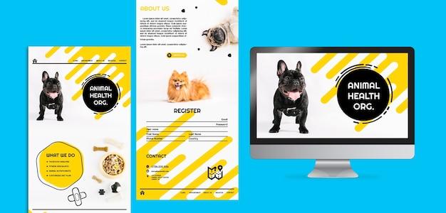 Коллекция веб-страниц корма для собак Бесплатные Psd
