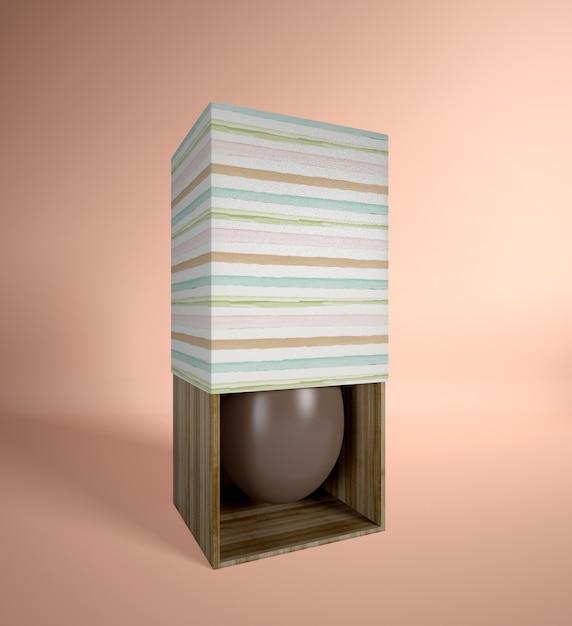 ボックスに高角度のチョコレートエッグ 無料 Psd