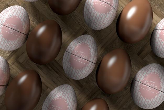 イースターのお祝いのためのクローズアップの卵 無料 Psd