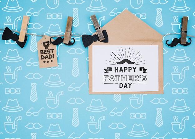 Счастливый день отца макет концепции Бесплатные Psd