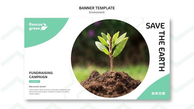 Концепция баннера с темой окружающей среды Бесплатные Psd