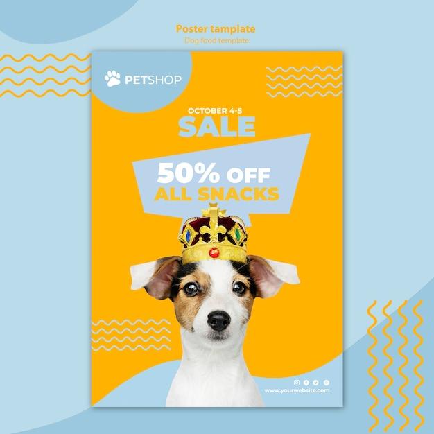 Шаблон флаера с продажей еды для собак Бесплатные Psd