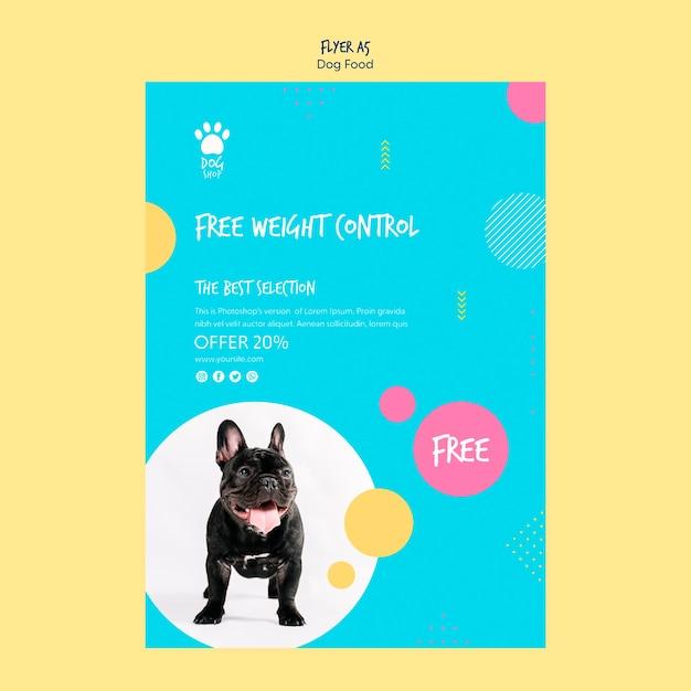 Дизайн флаера для продажи корма для собак Бесплатные Psd