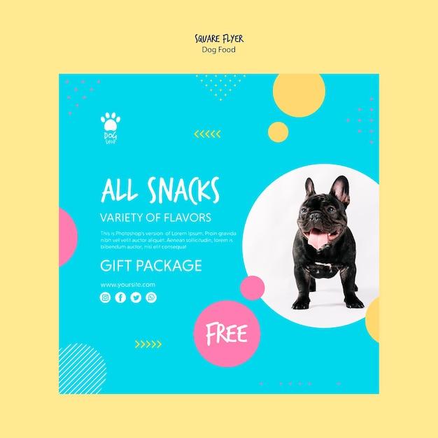 Квадратный флаер для подарочной упаковки для собак Бесплатные Psd