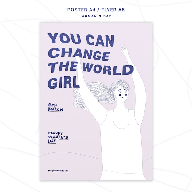Вдохновенный женский день постер Бесплатные Psd
