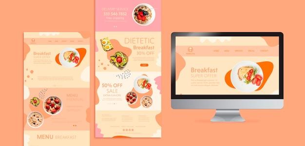 Концепция бранча с диетическим завтраком Бесплатные Psd