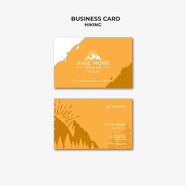 Шаблон визитной карточки концепции похода Бесплатные Psd