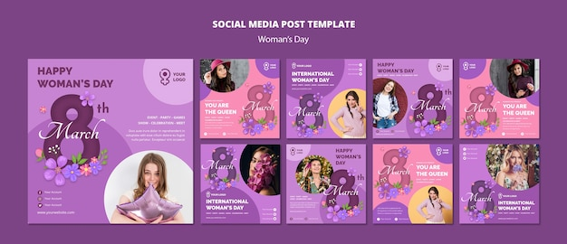 Женские шаблоны для социальных сетей Бесплатные Psd