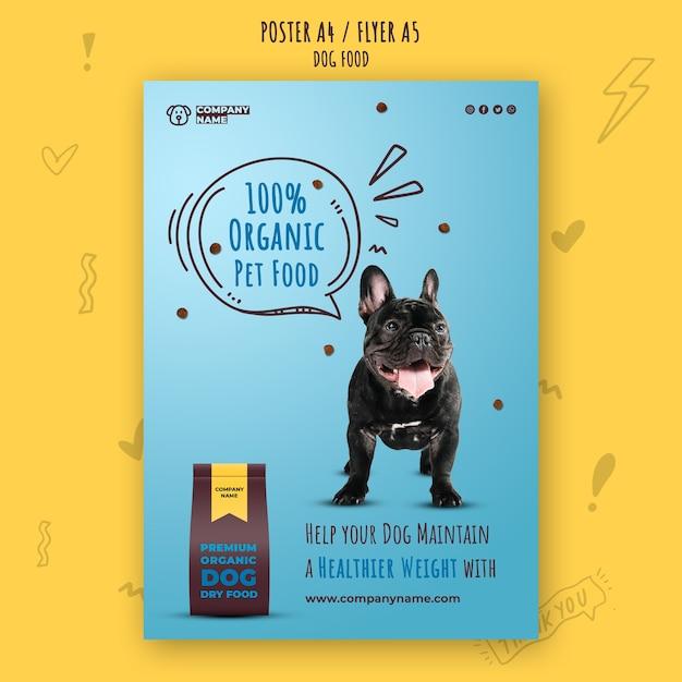 Шаблон плаката премиум органических кормов для домашних животных Бесплатные Psd