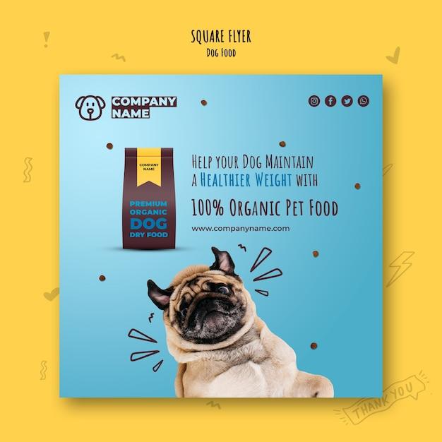 Органический корм для собак квадратный флаер Бесплатные Psd