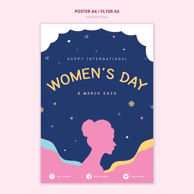 Женский день плакат абстрактное понятие Бесплатные Psd