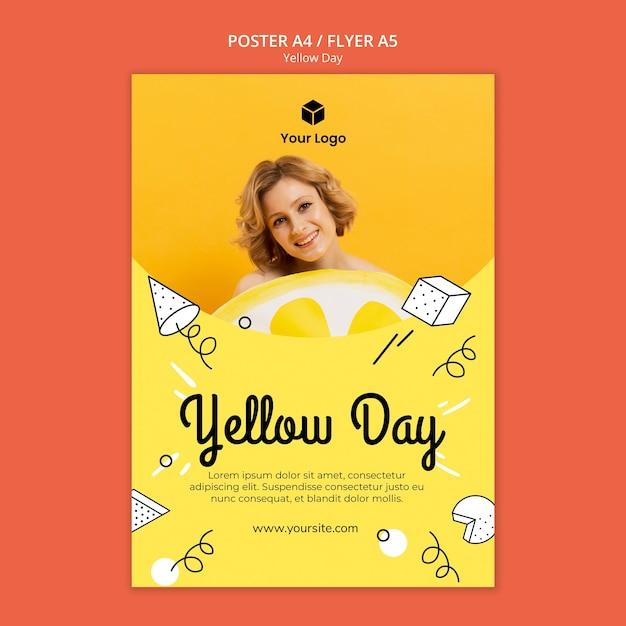Флаер с желтым дизайном Бесплатные Psd