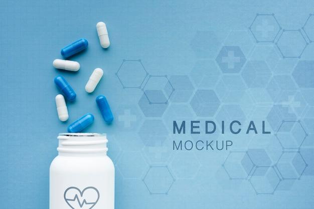 Медицинский макет с капсулами Бесплатные Psd