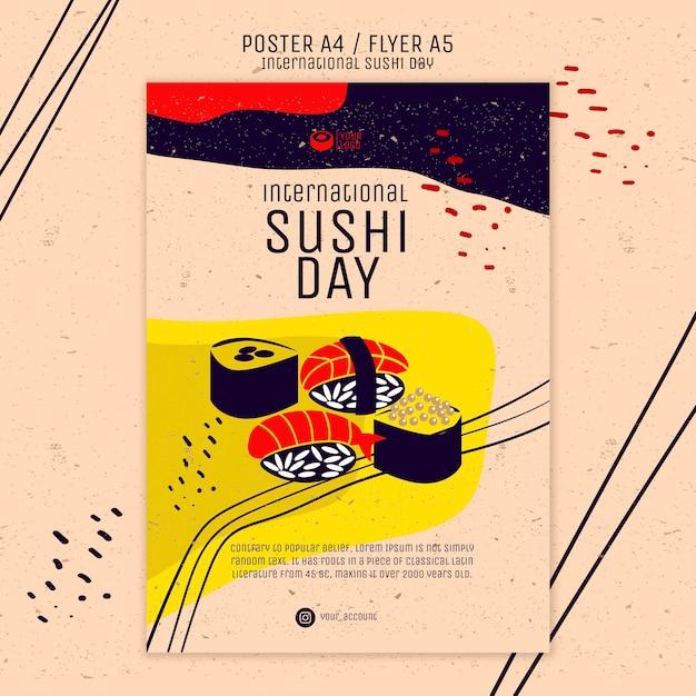 クリエイティブな寿司チラシテンプレート 無料 Psd