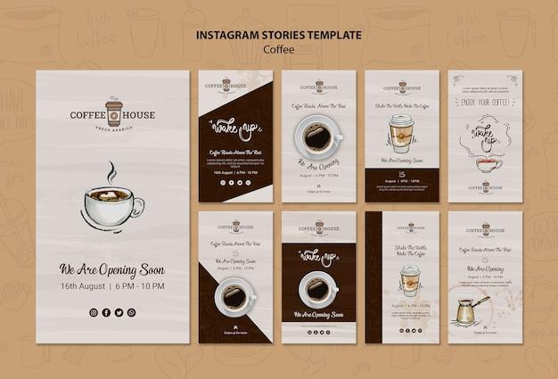 Шаблон истории кафе инстаграм Бесплатные Psd