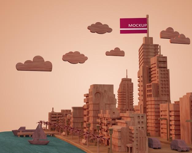 Макет зданий городов Бесплатные Psd