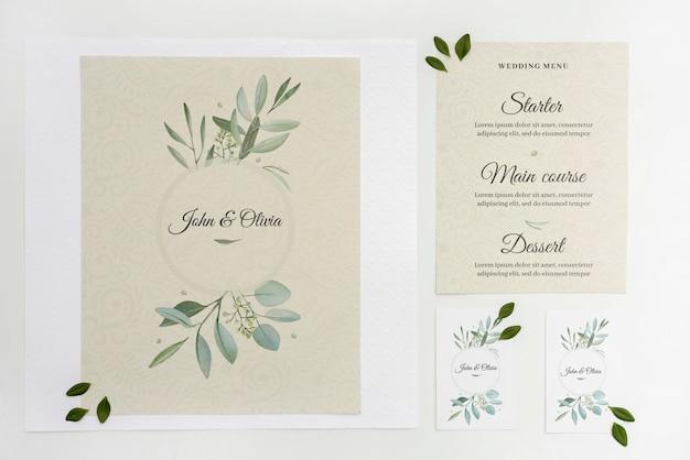 エレガントな結婚式の招待状 無料 Psd