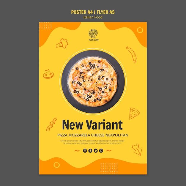 イタリア料理ビストロのポスター 無料 Psd