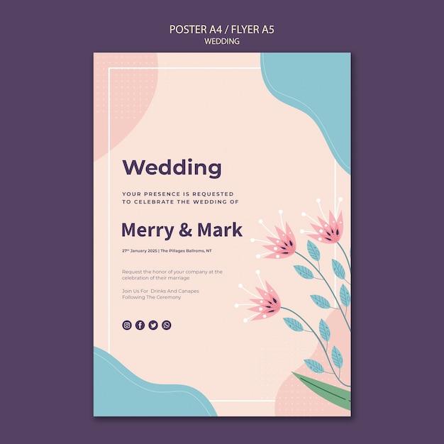 結婚式メニューテンプレート 無料 Psd