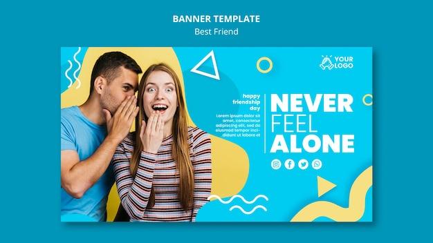 Лучший шаблон дизайна баннеров друзей Бесплатные Psd