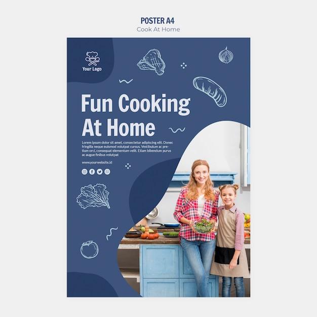 家庭料理ポスターデザイン 無料 Psd