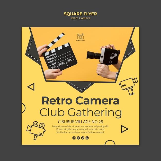 Шаблон флаера ретро камеры Бесплатные Psd