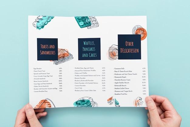 Макет концепции брошюры Бесплатные Psd