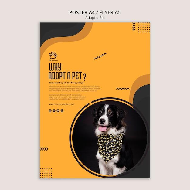 ペットボーダーコリー犬のチラシテンプレートを採用 無料 Psd