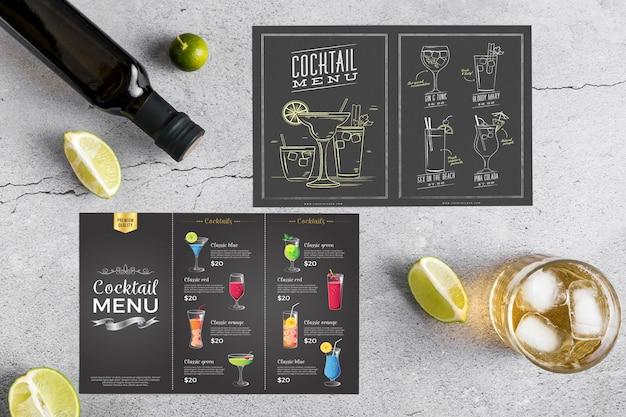 Концептуальный макет меню ресторана Бесплатные Psd